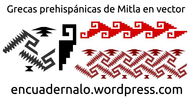 Plantillas: Grecas prehispánicas de Mitla | Encuadérnalo
